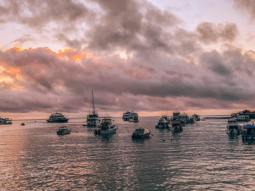 Sunrise on Santa Cruz, Galapagos, Ecuador