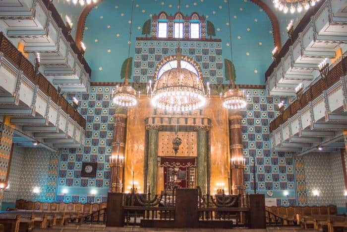 Interior of the Kazinczy Street Synagogue
