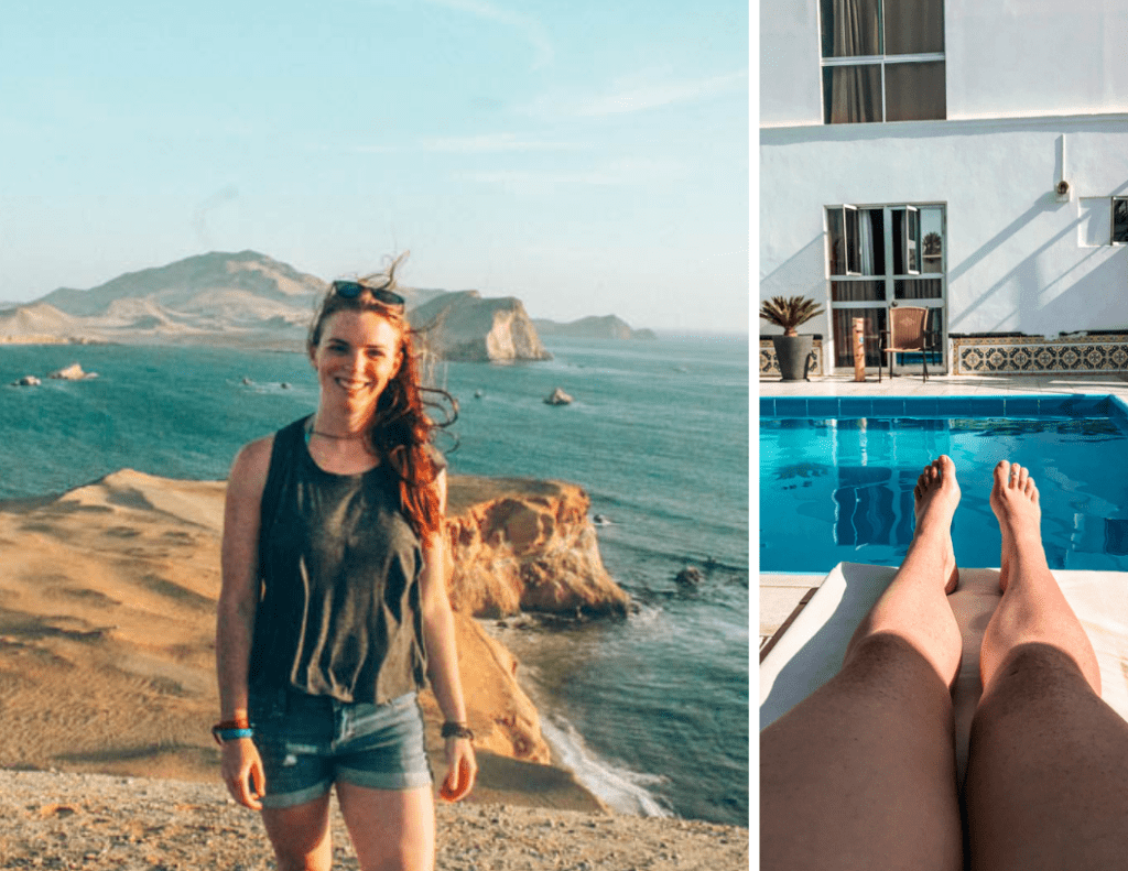 This hostel had a pool and set up a sunset hike in Paracas, Peru...but it was a party hostel