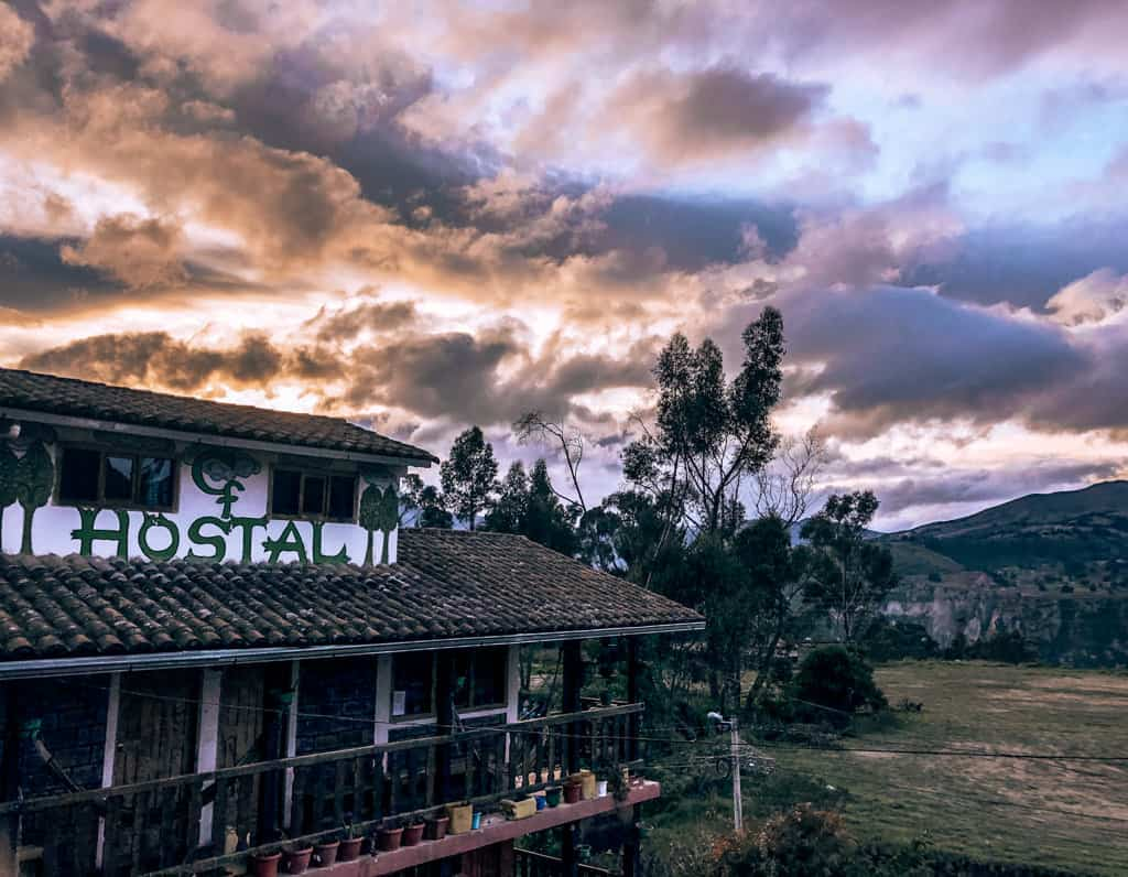 Sunsets at Hostel Cloud Forest on night 2