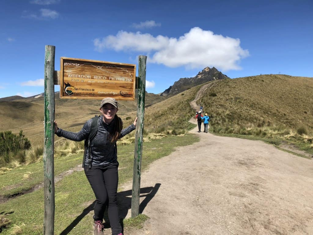 The beginning of the rucu pichincha hike