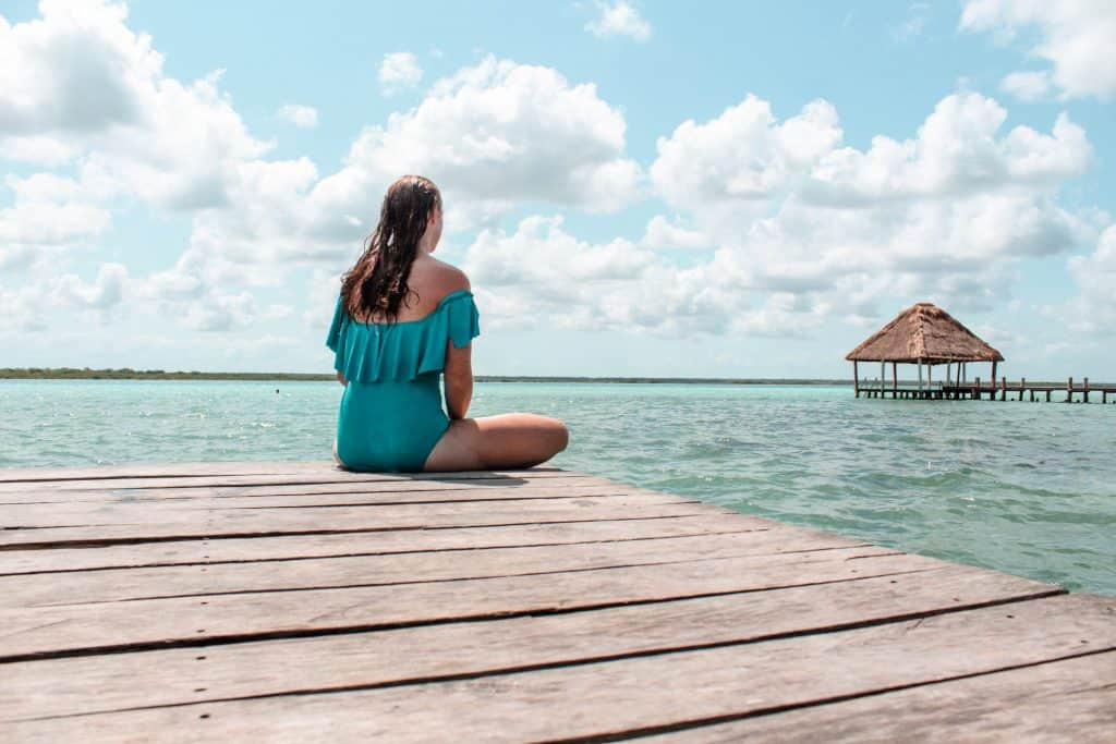 Enjoying the colors of Laguna Bacalar