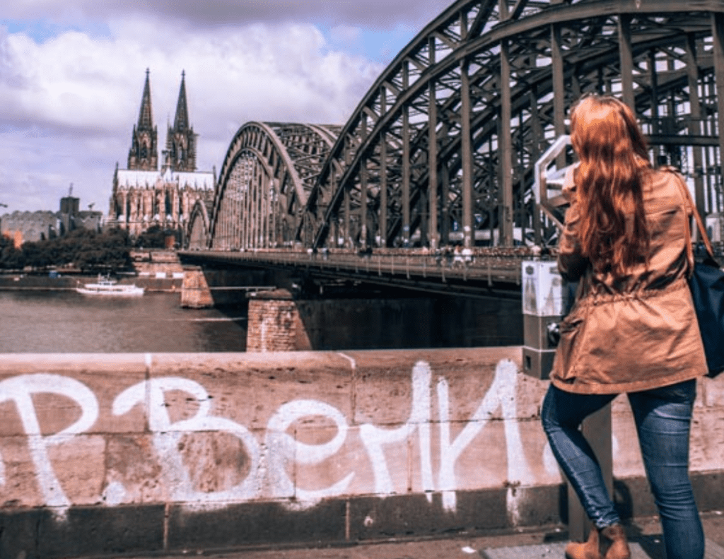 Solo Photography Tips - Showcasing the bridge and Church in Cologne