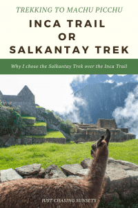 The Salkantay Trek or the Inca Trail to Machu Picchu