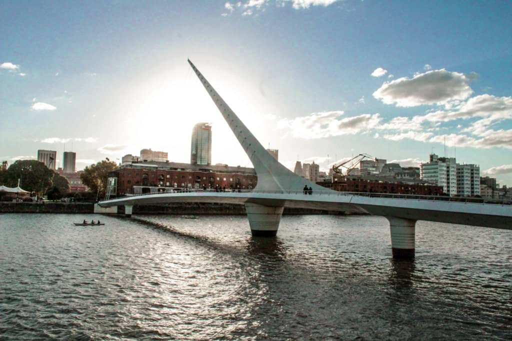 punta de la mujer bridge at sunset