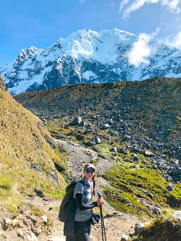 hiking to Salkantay Pass