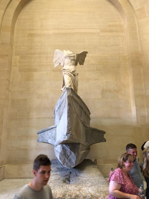The Nike inside the Louvre Museum in Paris