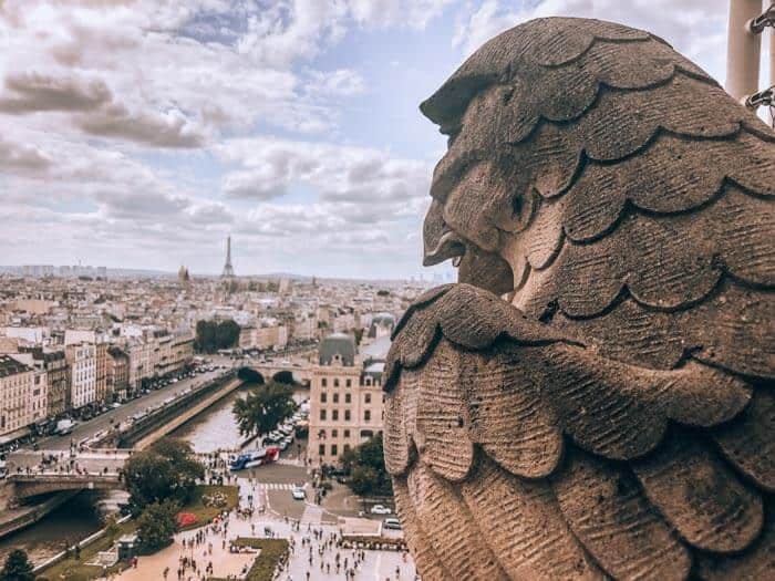 Gargoyle keeping a watchful eye from Notre Dame
