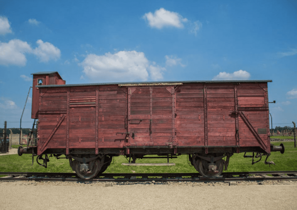 train car that transported hundreds of souls to Auschwitz-Birkenau