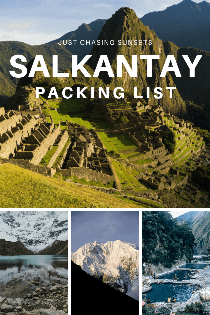 Salkantay Packing List