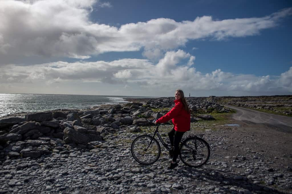 biking on Inisheer Island