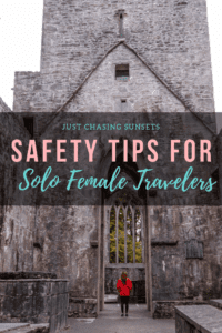 tips for solo female travellers pinterest image