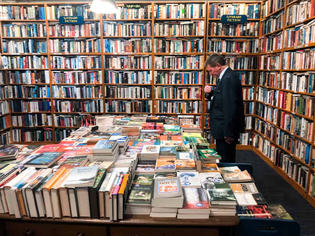 One of the 5 rooms filled with books at Charlie Byrne Bookstore