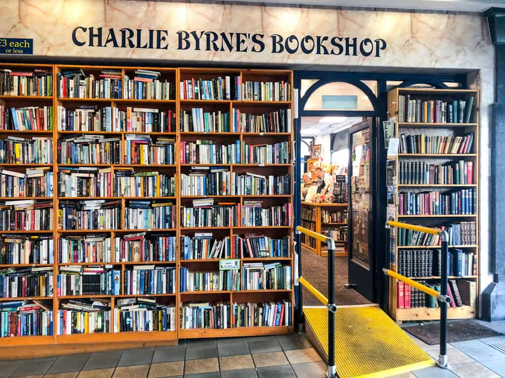 Entrance to Charlie Byrne Bookstore