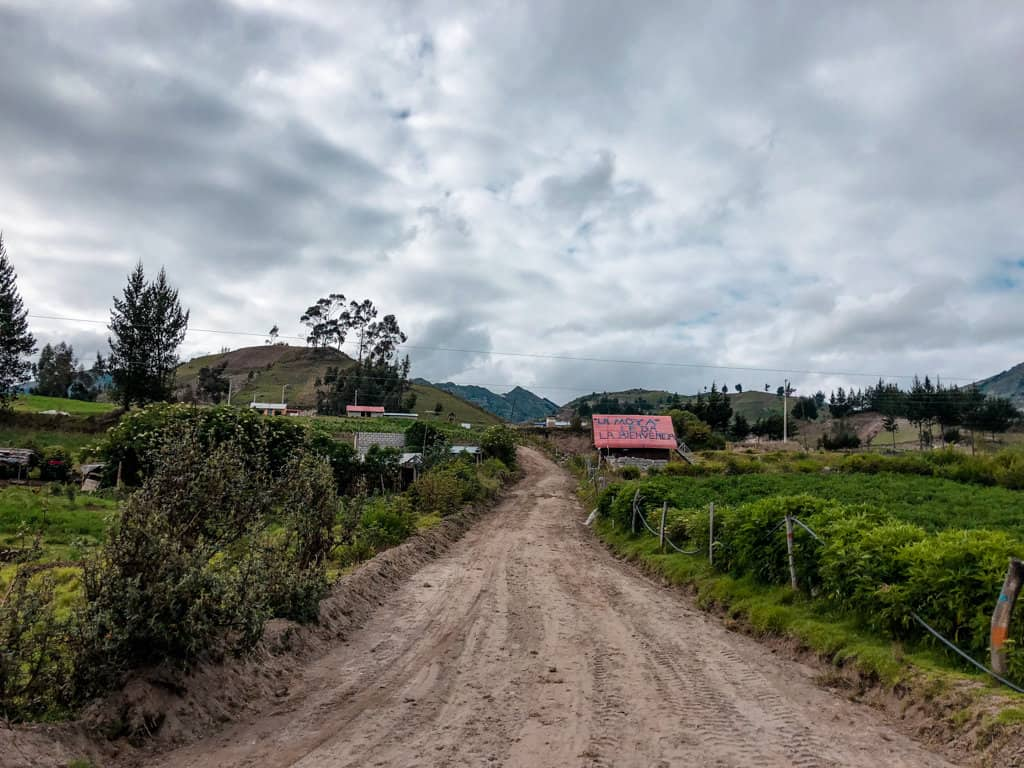 a photo of one of the last villages before reaching Quilotoa