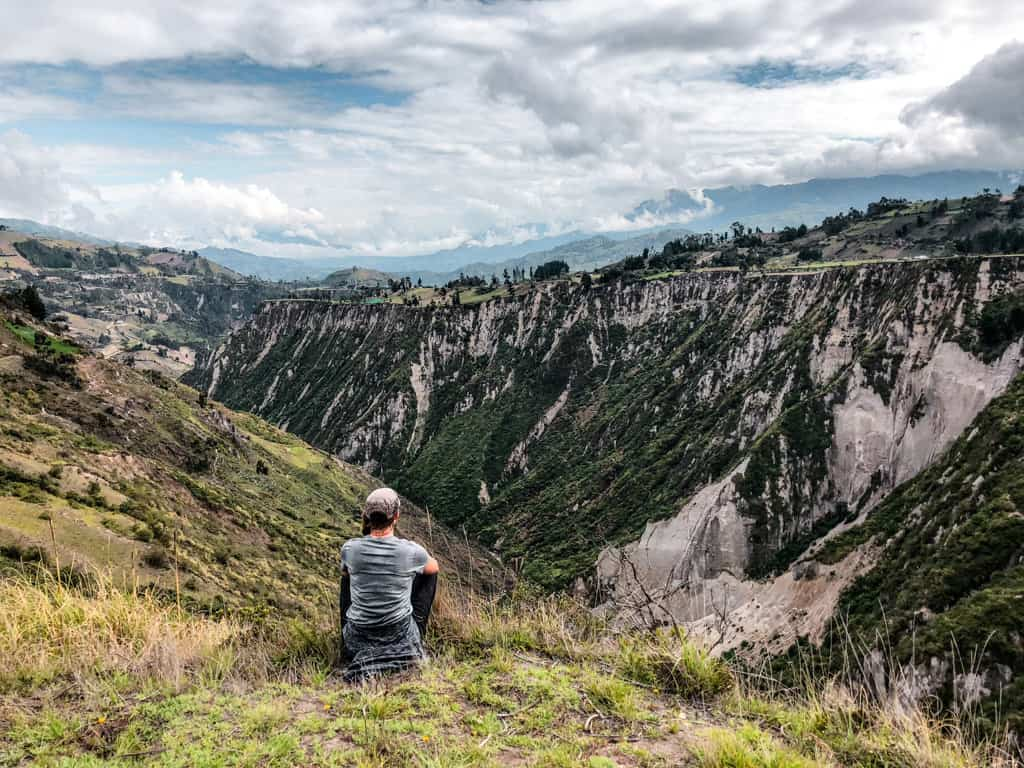 me looking over the valley in the Andes