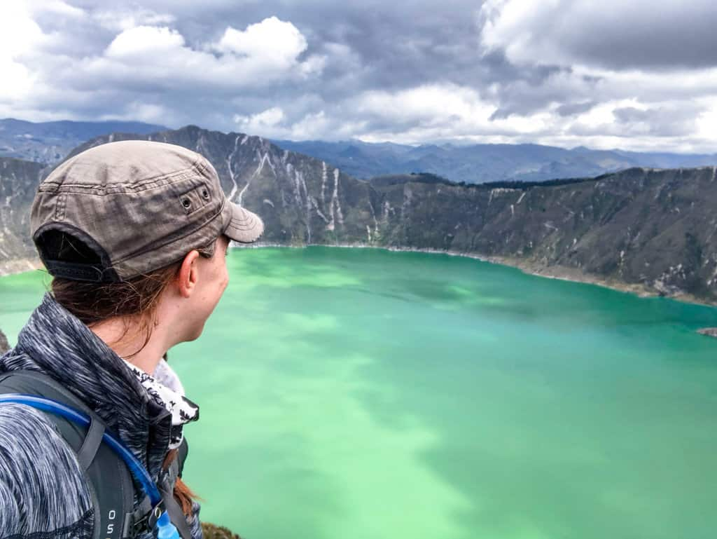 me overlooking quilotoa lake