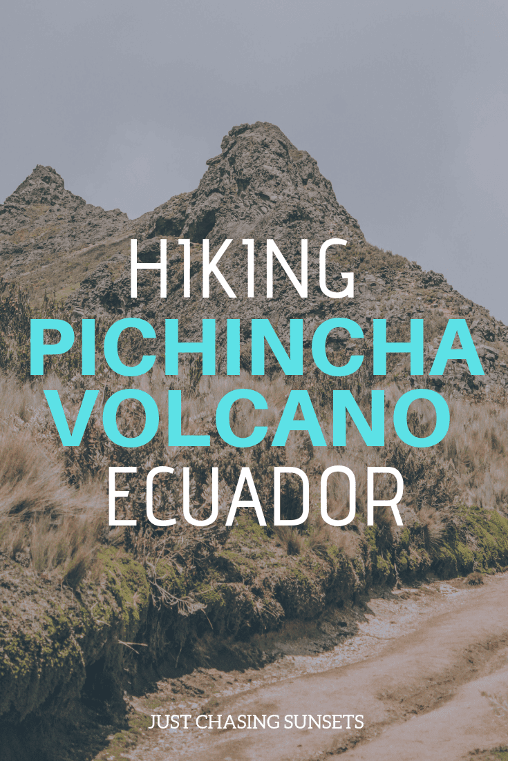 hiking the pichincha volcano in ecuador