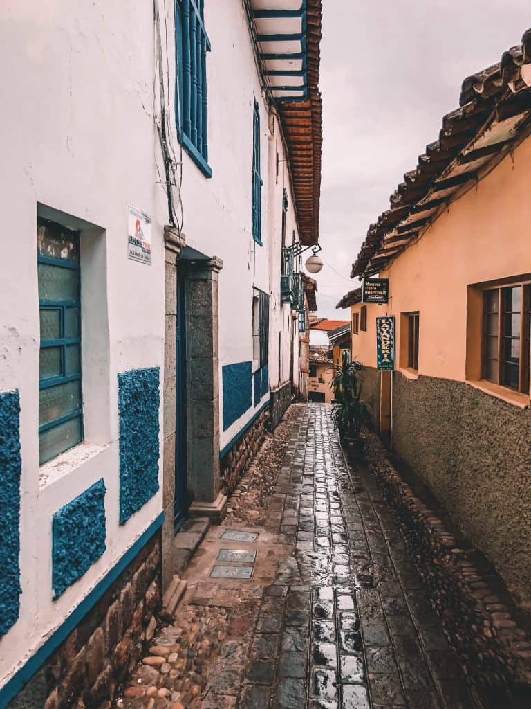 The streets of San Blas in Cusco Peru