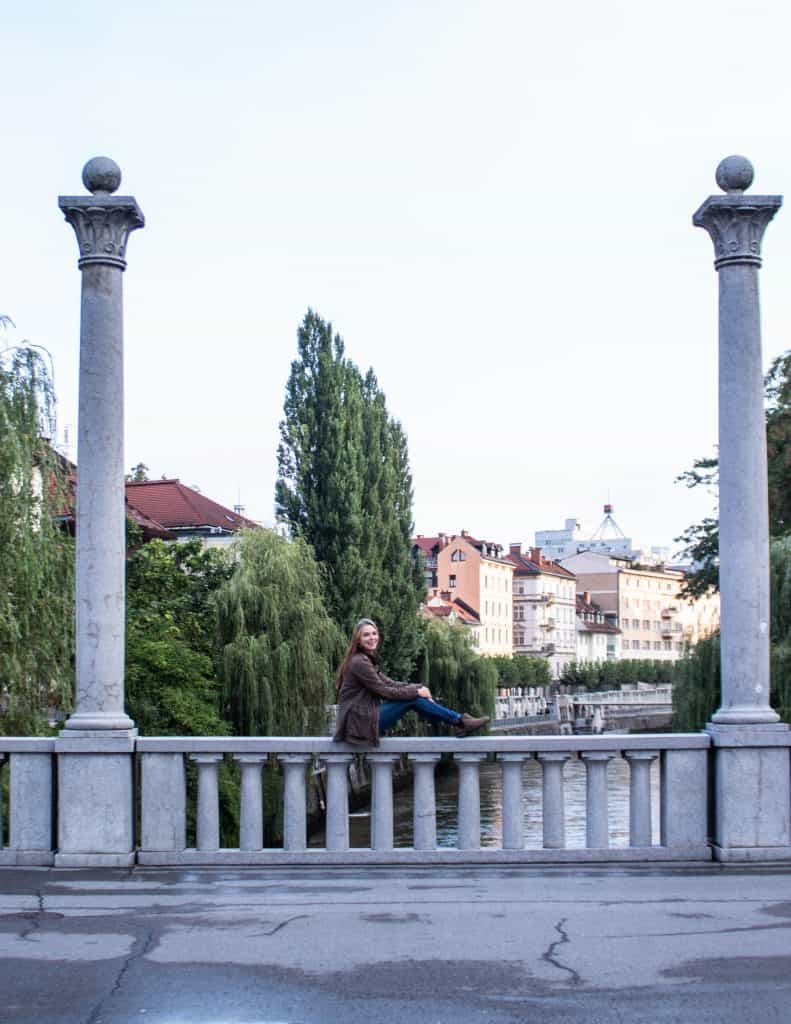 Cobblers bridge in Ljubljana