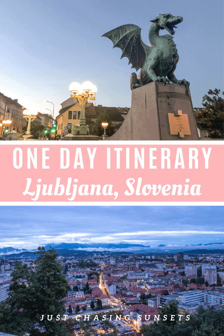 One day itinerary for Ljubljana, Slovenia