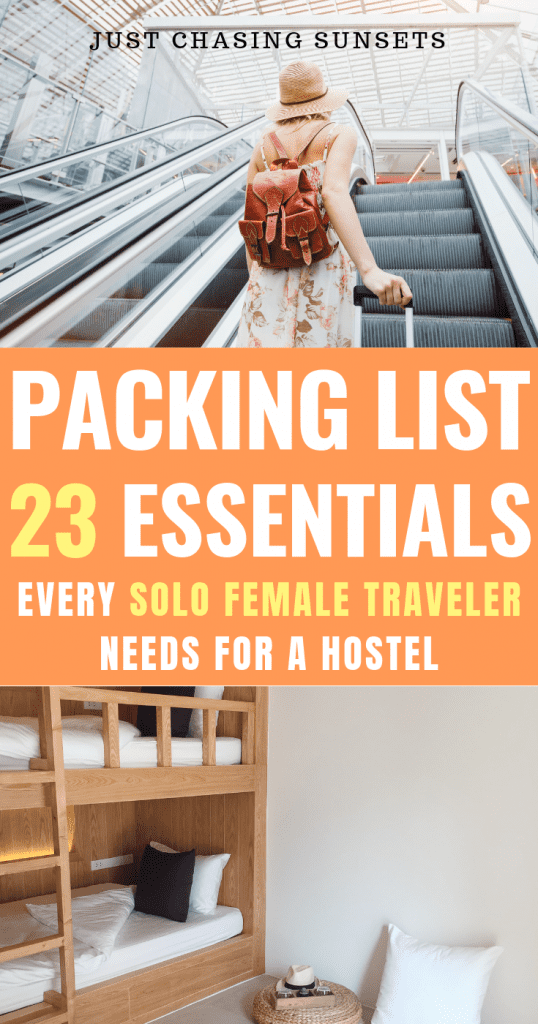 Packing list essentials for a hostel stay
