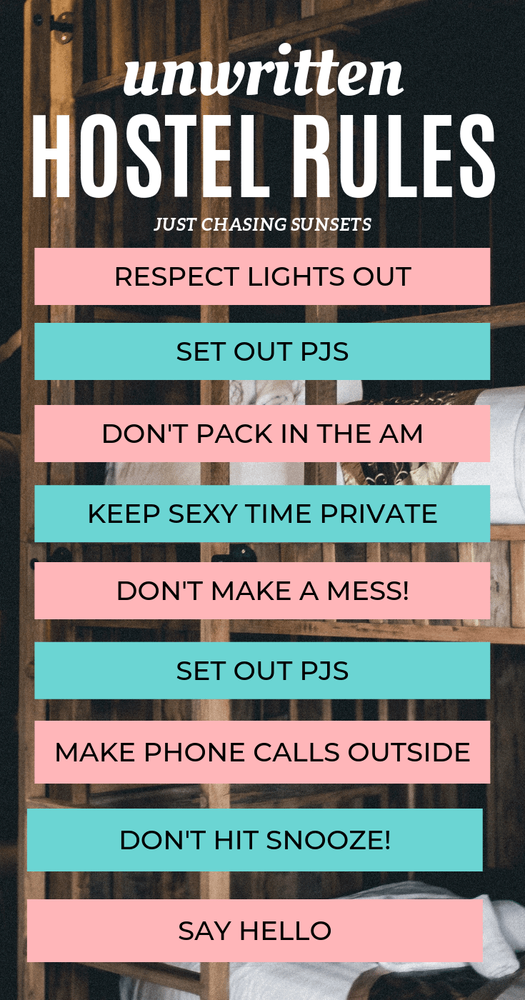 Top 9 Hostel Rules