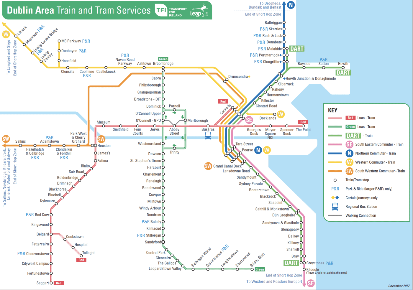Dublin Area Transit Map