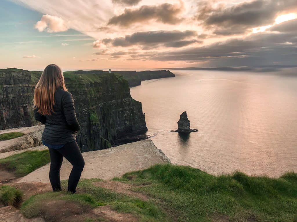Doolin to Cliffs of Moher at sunset