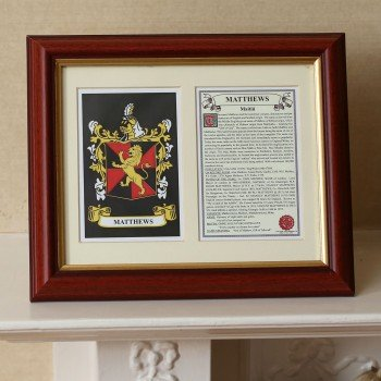 Irish Gift Idea: Family Crest Print