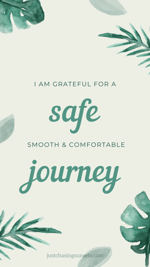 Travel affirmation for travel