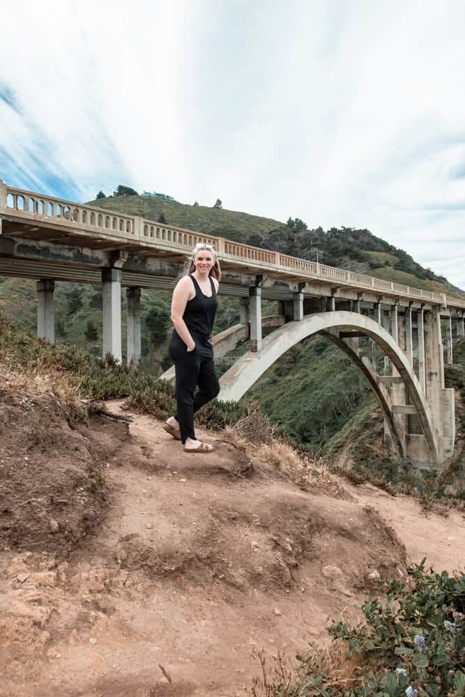Me in front of a smaller version of the Bixby Bridge