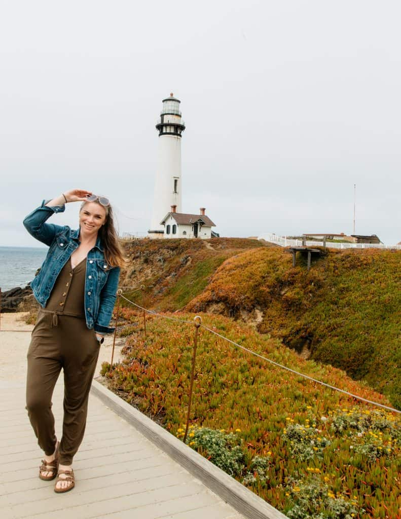 Me at Pigeon Point Lighthouse
