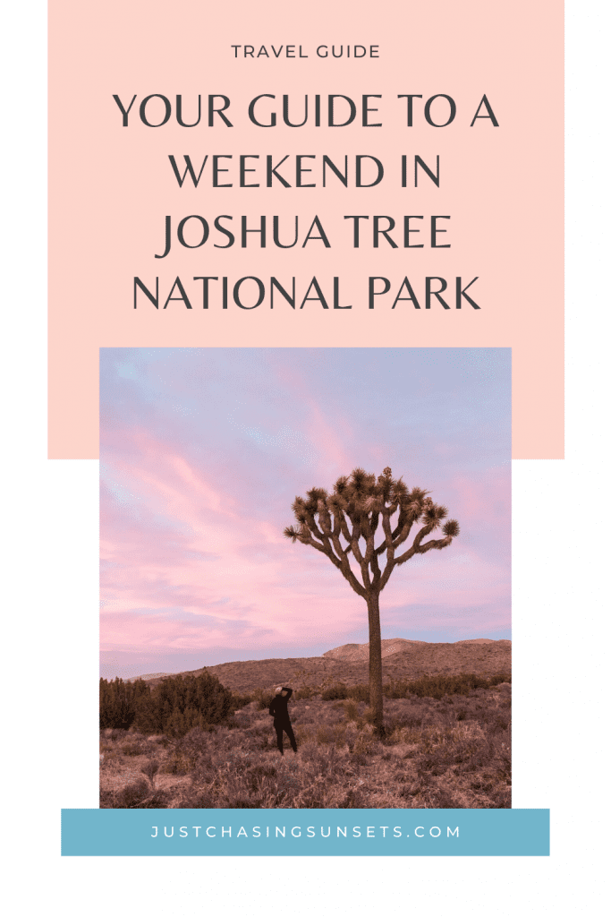 a weekend in Joshua Tree National Park
