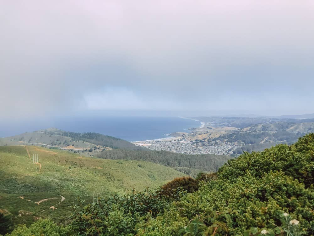 View of Pacifica from Montara Mountain
