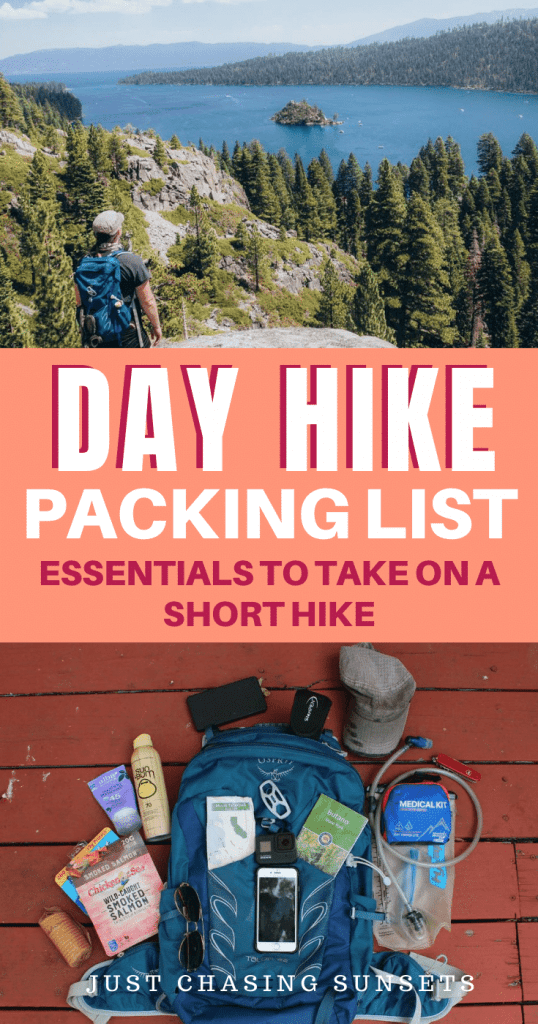 Day hike packing list essentials to take on a short hike