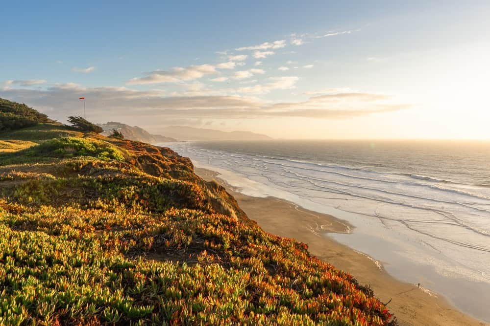 Fort Funston Beach at Sunset, San Francisco CA