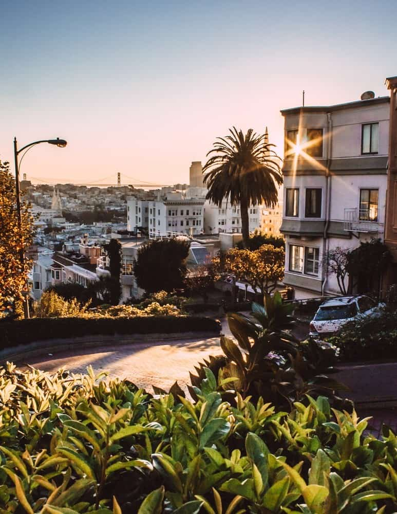 Lombard St. at Sunrise in San Francisco
