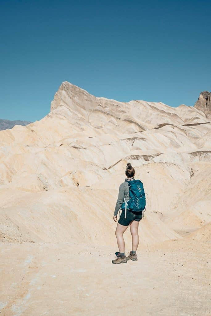 Me standing in front of Zabriskie Point