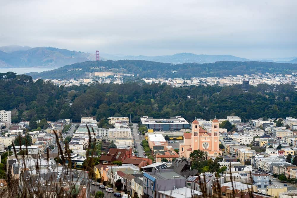 view of San Francisco from Grandview Park