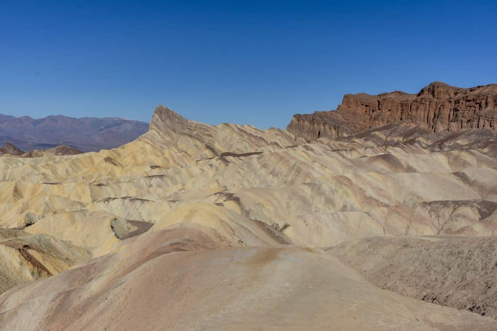 Zabriskie Point viewed from the Golden Canyon Trail