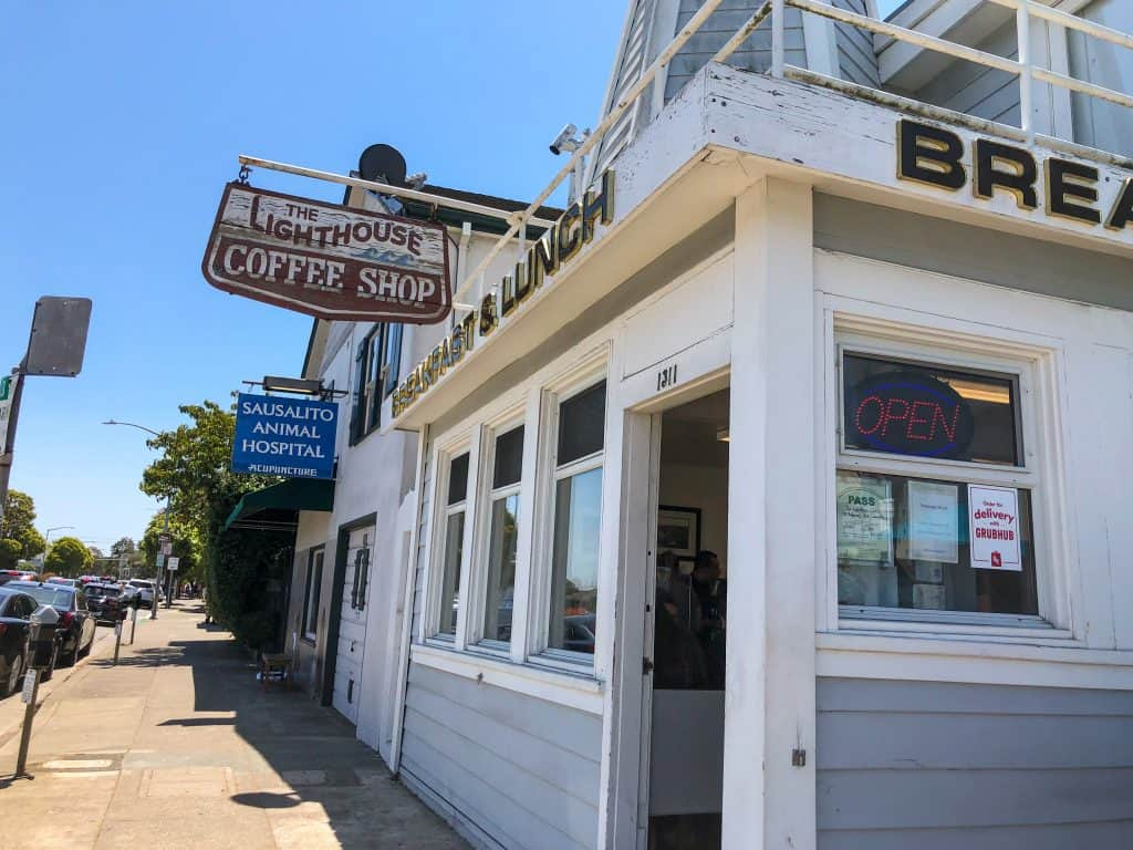Lighthouse Coffee shop in Sausalito