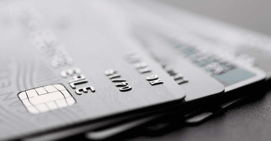 Make sure to have you travel credit and ATM cards for an international trip. Image of credit cards.