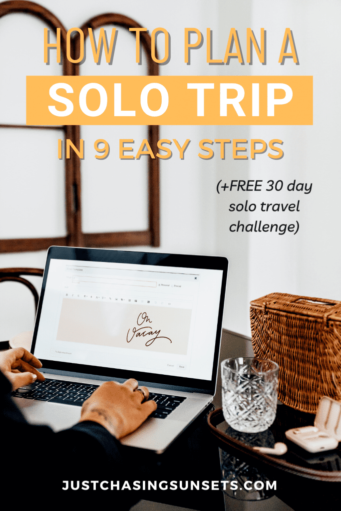 planning a solo trip